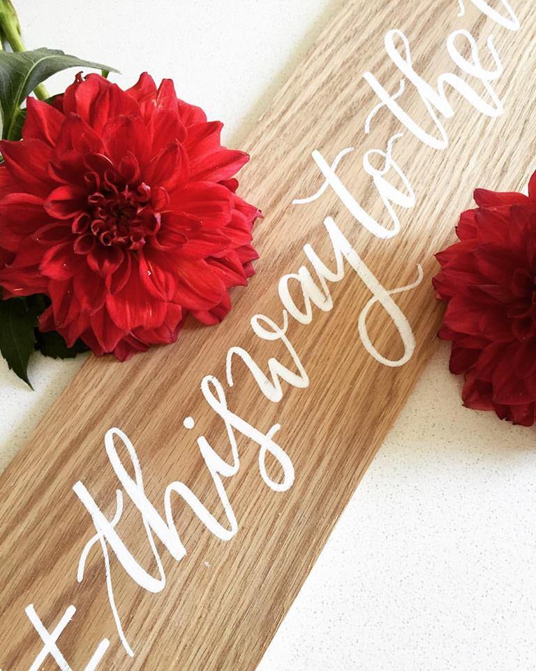 Cecile Lau Calligraphy - Wood signage
