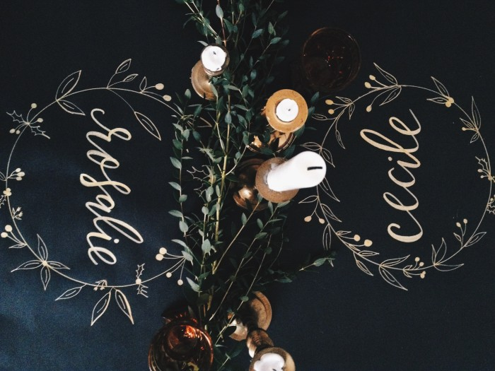 Calligraphy tablescape