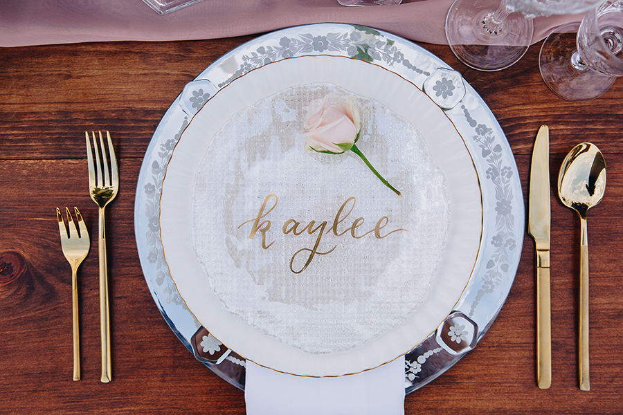 Cecile Lau Calligraphy - Hand lettered plate