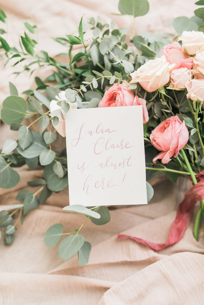 Cecile Lau Calligraphy - Baby annoucement