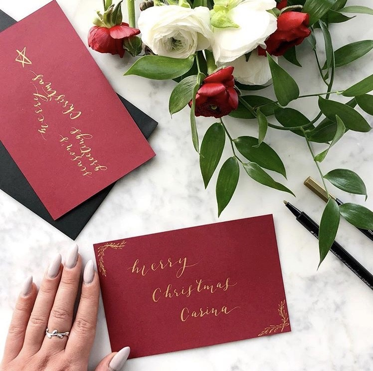 Cecile Lau Calligraphy - Holiday custom cards