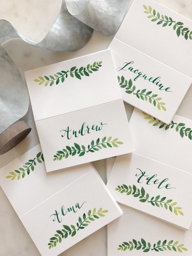 Cecile Lau Calligraphy - Place cards