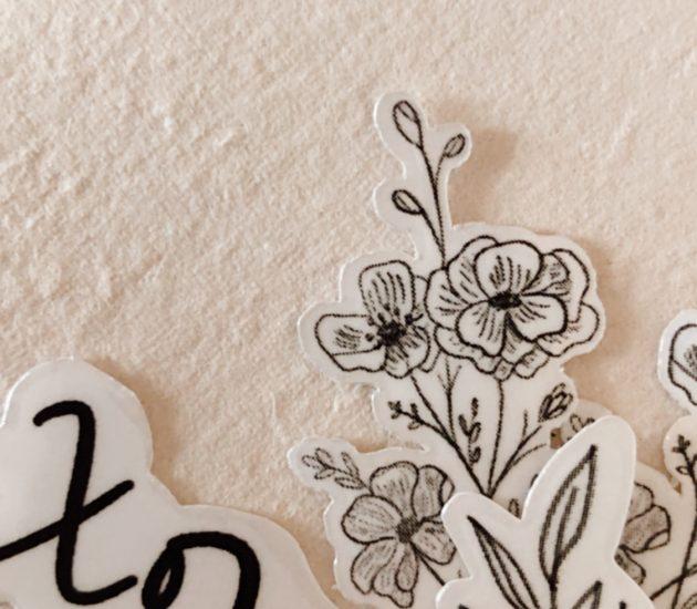 Cecile Lau Calligraphy stickers01