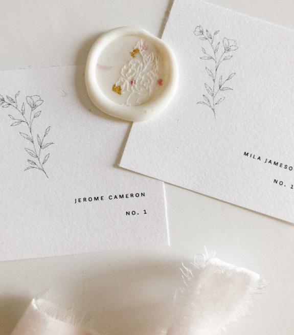 Cecile Lau Calligraphy Wax Seal and Place Cards
